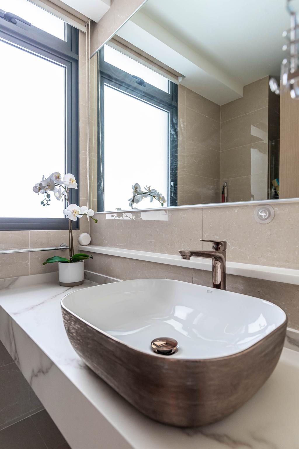 Contemporary, Condo, Bathroom, Twin Waterfalls, Interior Designer, Swiss Interior Design
