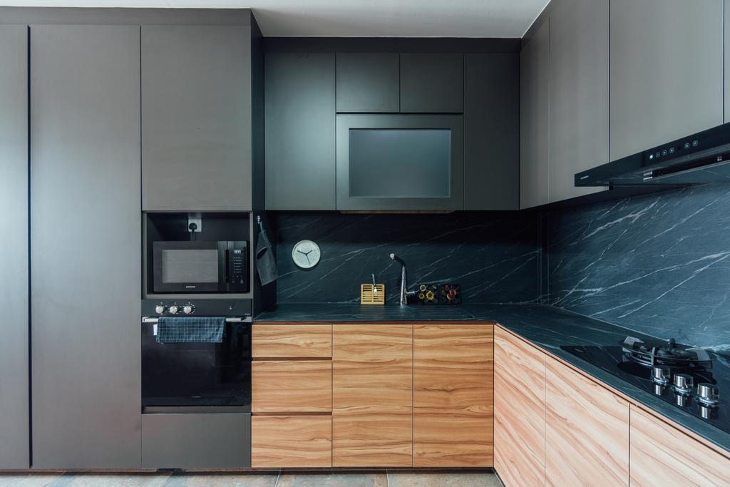 Contemporary, HDB, Kitchen, Woodlands Drive 60, Interior Designer, Le Interior Affairs