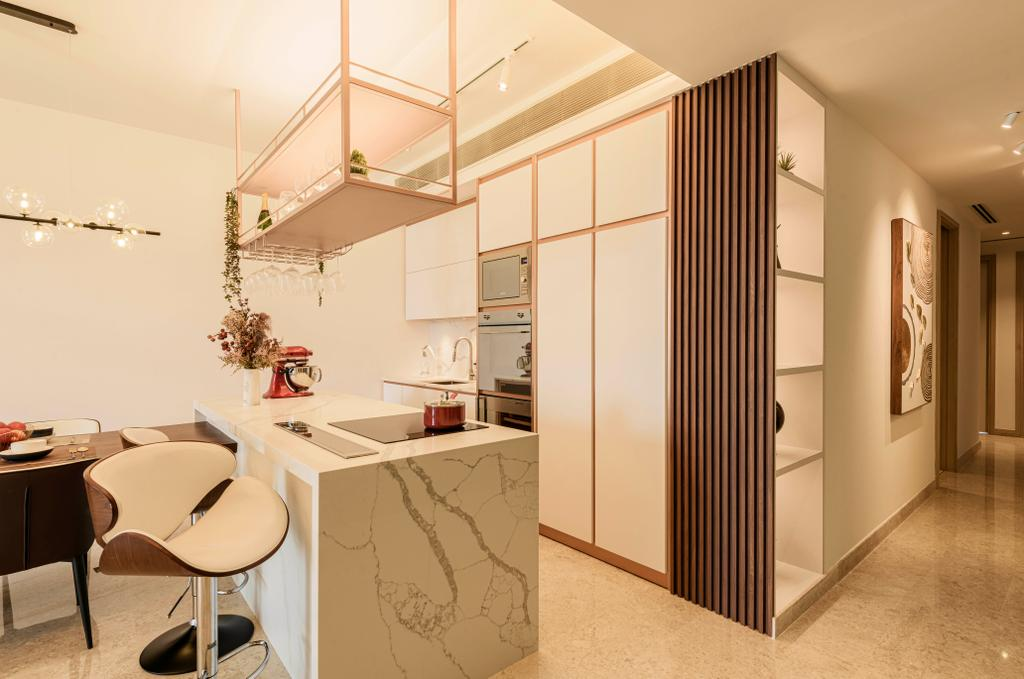 Modern, Condo, Living Room, The Azure, Interior Designer, Divine & Glitz