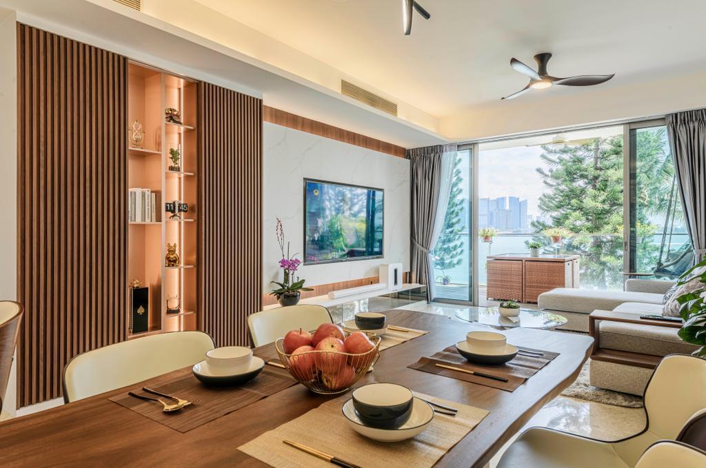 Modern, Condo, Dining Room, The Azure, Interior Designer, Divine & Glitz