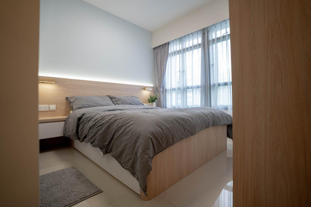 Scandinavian, HDB, Bedroom, Bidadari Park Drive, Interior Designer, Hashtag Interior