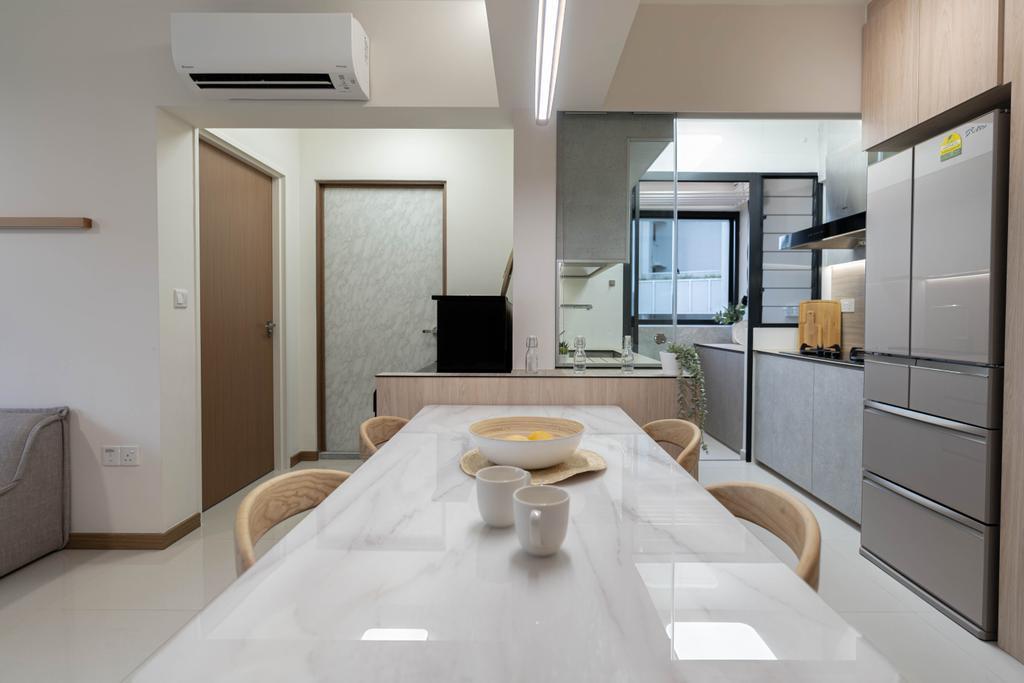 Scandinavian, HDB, Dining Room, Bidadari Park Drive, Interior Designer, Hashtag Interior