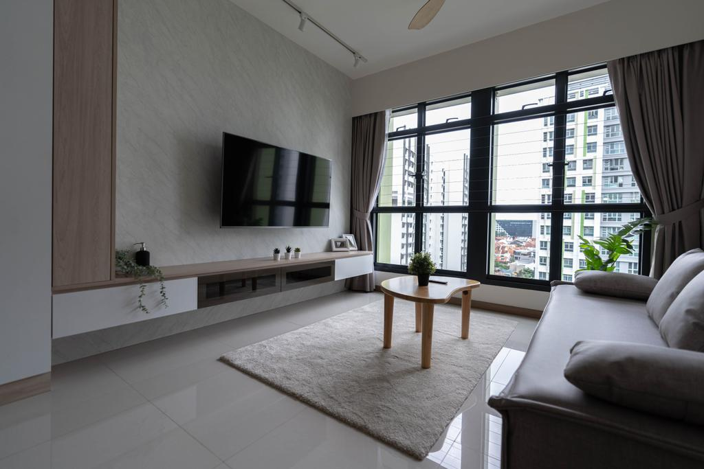 Scandinavian, HDB, Living Room, Bidadari Park Drive, Interior Designer, Hashtag Interior