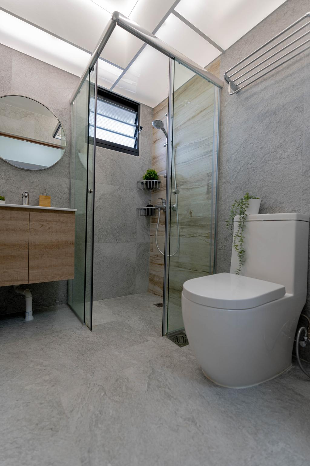 Scandinavian, HDB, Bathroom, Bidadari Park Drive, Interior Designer, Hashtag Interior