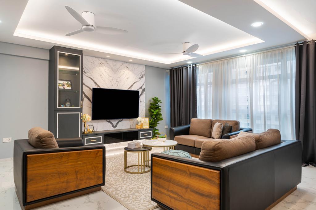 Contemporary, HDB, Living Room, Tampines Street 85, Interior Designer, Tab Gallery