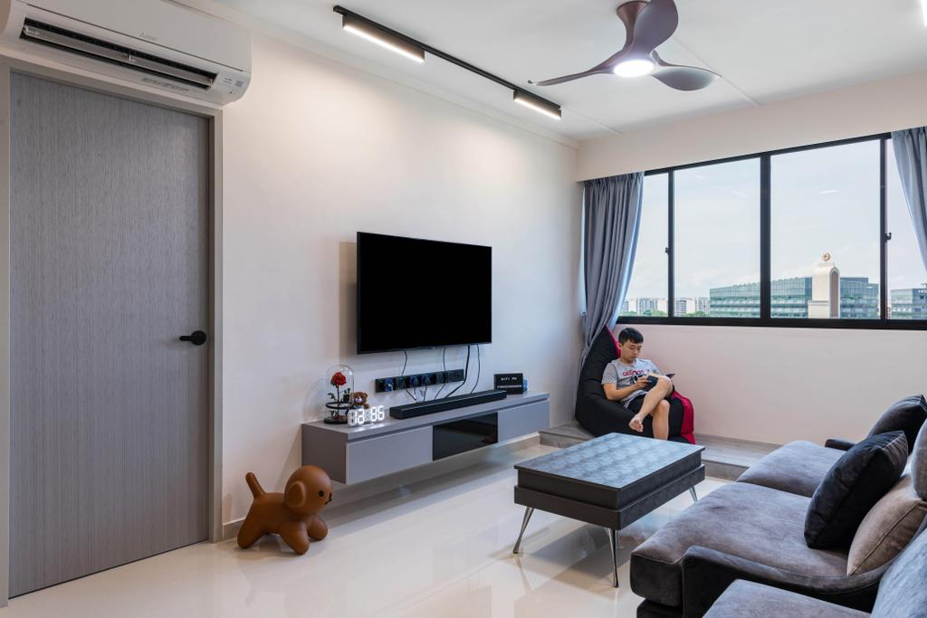Contemporary, HDB, Living Room, Tampines Avenue 5, Interior Designer, Glamour Concept