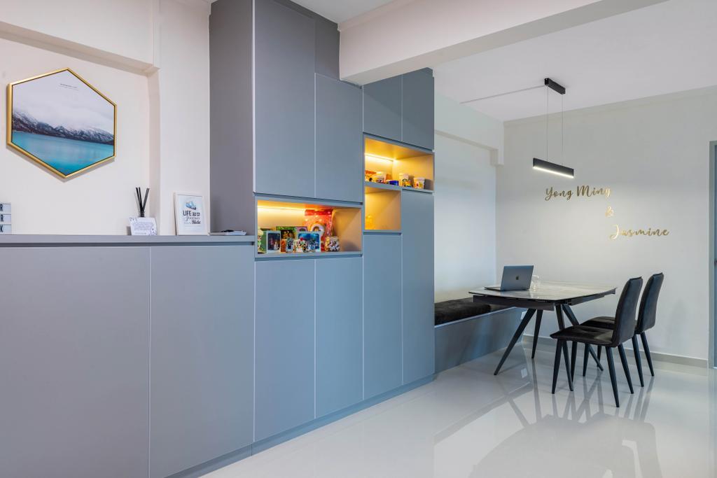 Contemporary, HDB, Dining Room, Tampines Avenue 5, Interior Designer, Glamour Concept