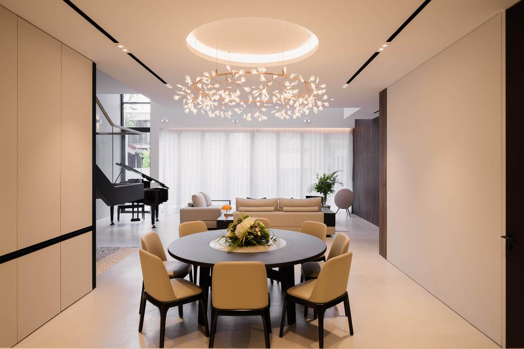 Contemporary, Landed, Dining Room, Sunset Terrace, Interior Designer, Kuhlmann International   The Modular Builder