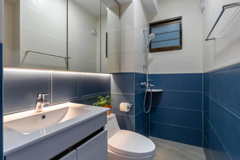 Retro, HDB, Bathroom, Tanglin Halt, Interior Designer, Inizio Atelier, Contemporary