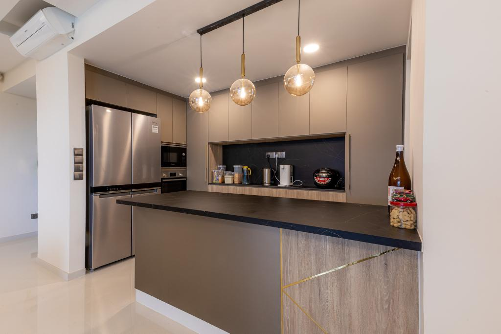 Contemporary, Condo, Kitchen, Kovan Residences, Interior Designer, Place to Relax