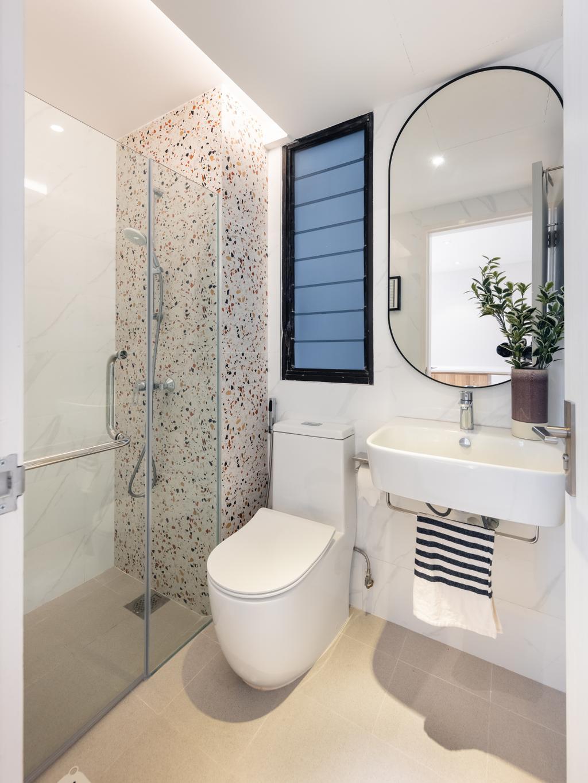 Scandinavian, Condo, Bathroom, Mandarin Gardens, Interior Designer, U-Home Interior Design