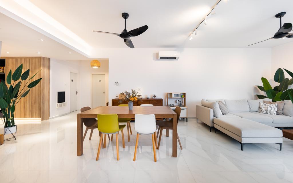 Scandinavian, Condo, Living Room, Mandarin Gardens, Interior Designer, U-Home Interior Design