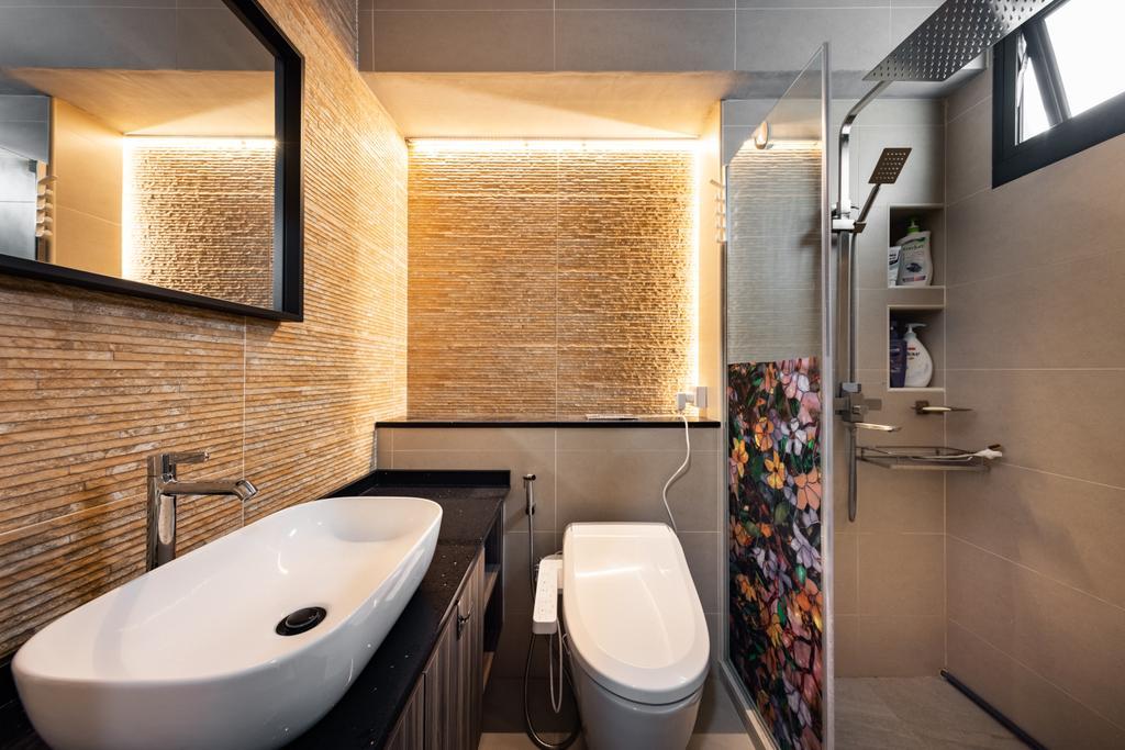 Contemporary, HDB, Bathroom, Tampines Street 84, Interior Designer, U-Home Interior Design