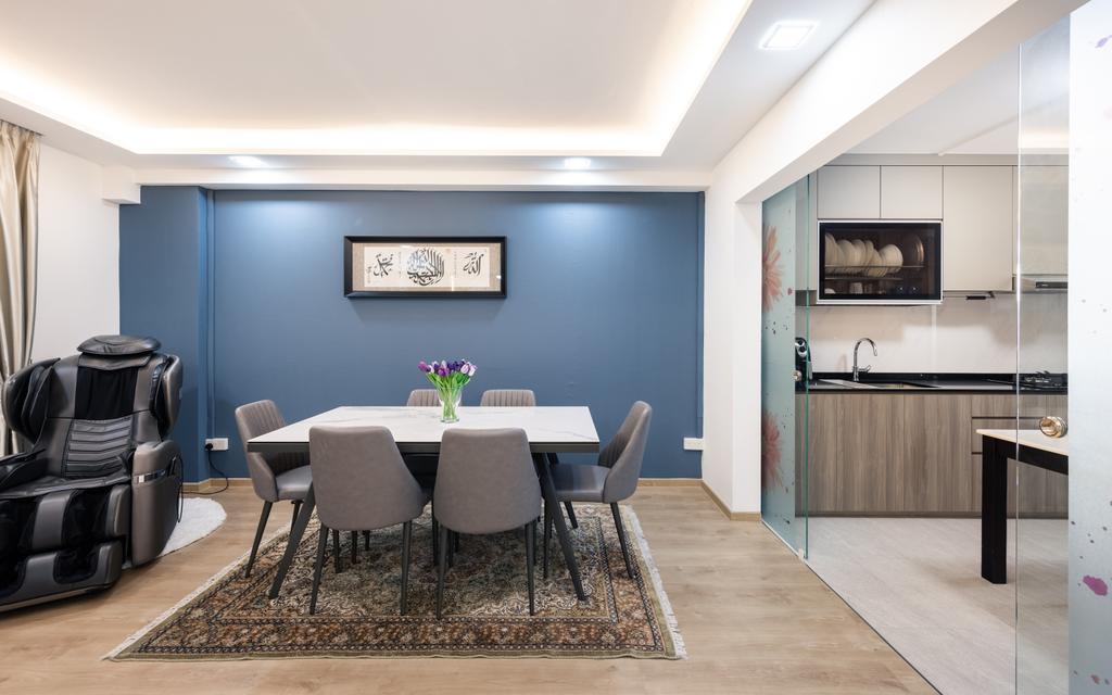 Contemporary, HDB, Dining Room, Tampines Street 84, Interior Designer, U-Home Interior Design