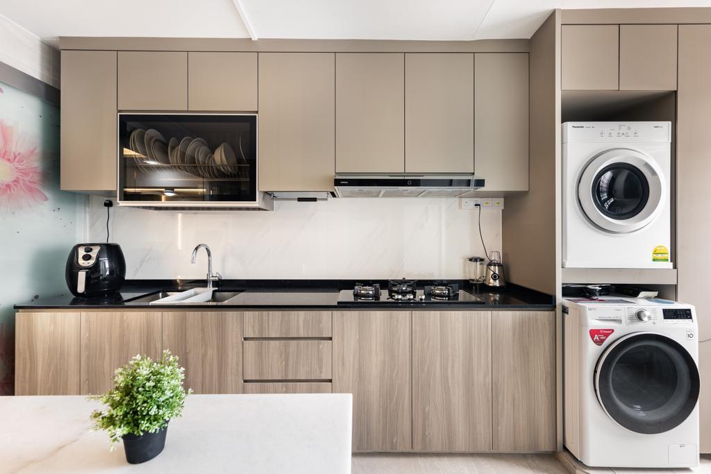 Contemporary, HDB, Kitchen, Tampines Street 84, Interior Designer, U-Home Interior Design