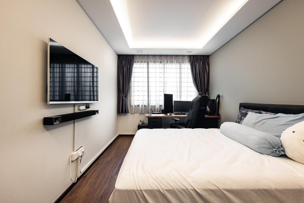 Contemporary, HDB, Bedroom, Tampines Street 84, Interior Designer, U-Home Interior Design