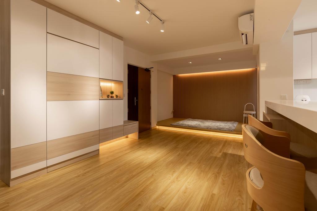 Scandinavian, HDB, Living Room, Northshore Drive, Interior Designer, Design Identity