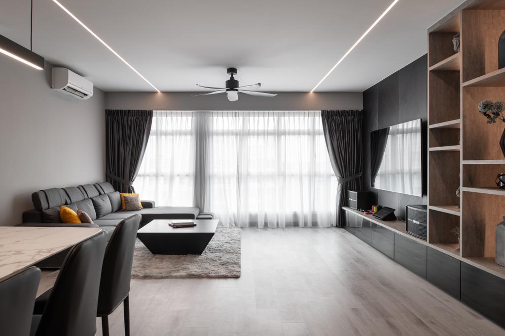 Contemporary, HDB, Living Room, Yishun Ring Road, Interior Designer, The Local Project