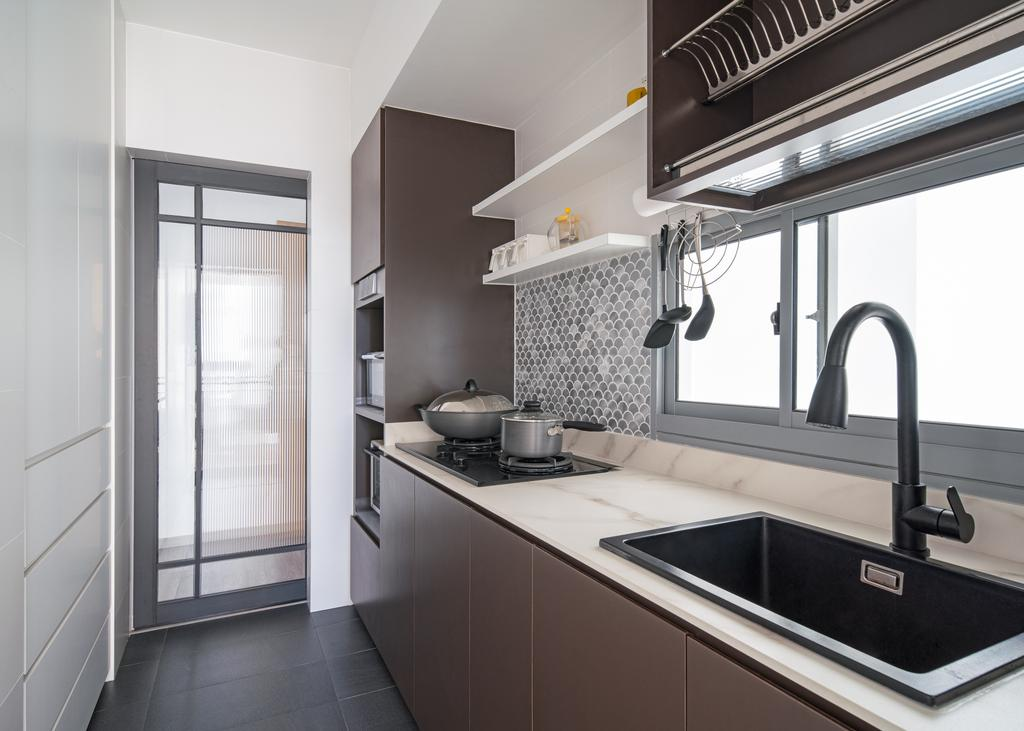 Contemporary, HDB, Kitchen, Boon Keng Road, Interior Designer, The Local Project