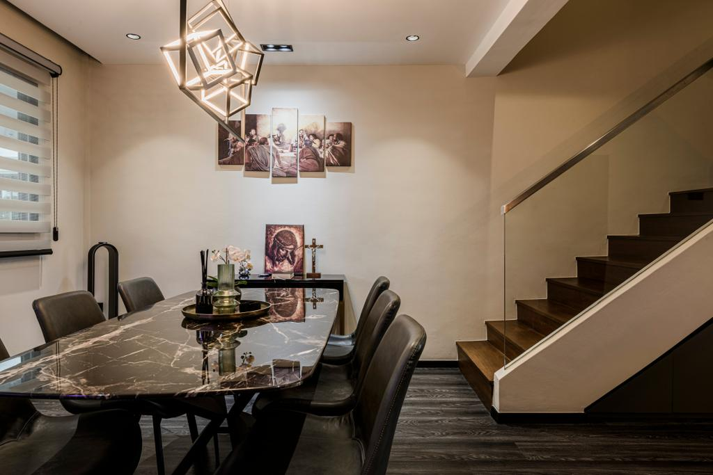 Contemporary, HDB, Dining Room, Jurong West Street 42, Interior Designer, The Local Project