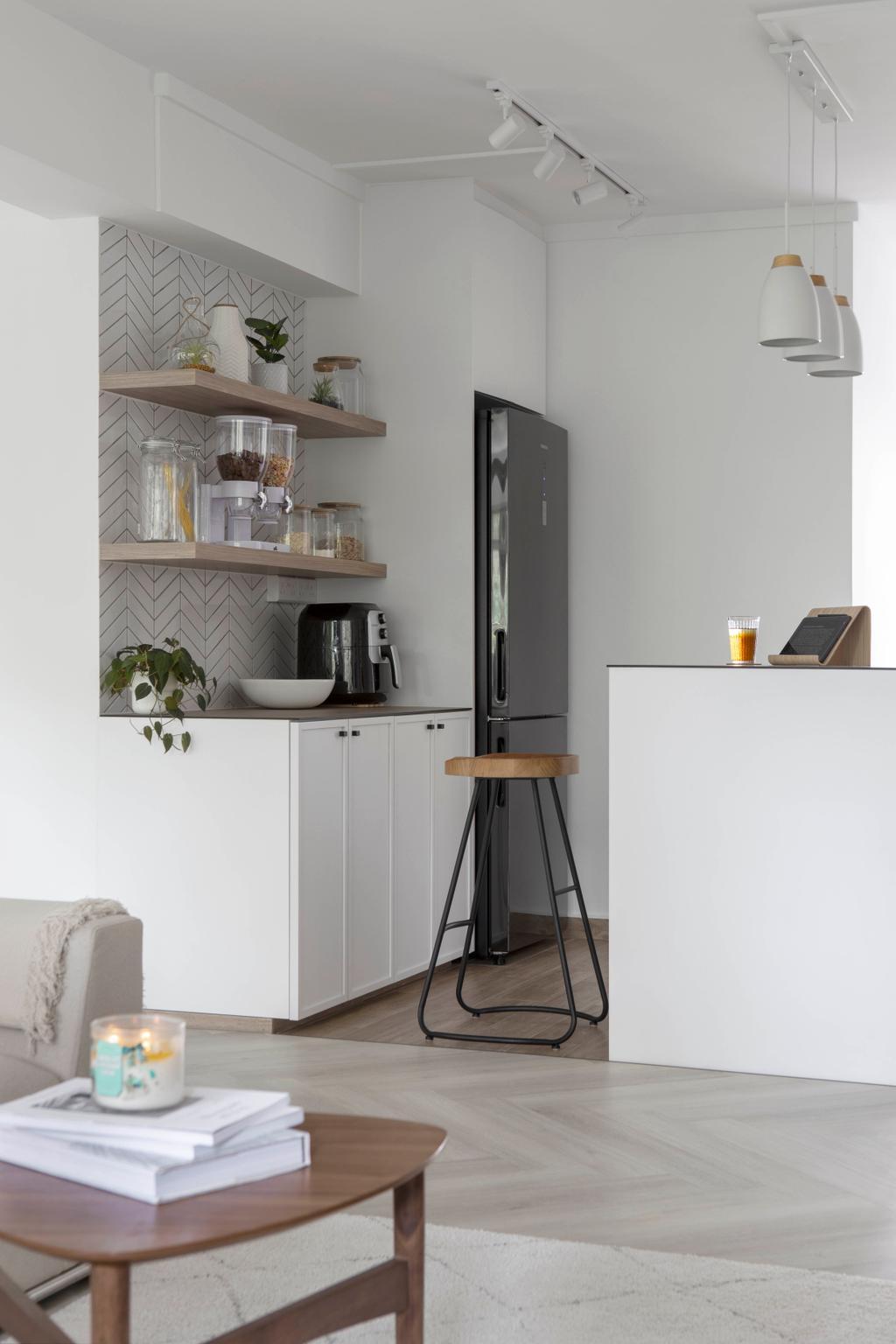 Scandinavian, HDB, Kitchen, Pasir Ris Street 71, Interior Designer, Lemonfridge Studio