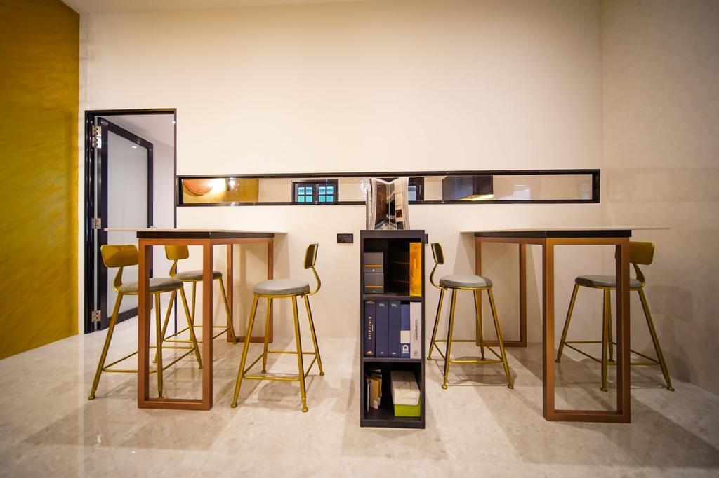 Pearl's Hill Terrace, Commercial, Interior Designer, Orange Interior, Contemporary