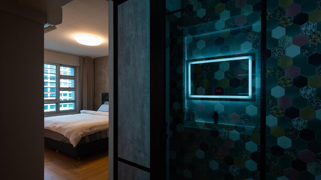 Contemporary, HDB, Bedroom, Punggol Drive, Interior Designer, A Blue Cube Design, Scandinavian