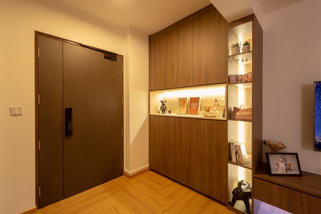Contemporary, HDB, Living Room, Punggol Drive, Interior Designer, A Blue Cube Design, Scandinavian
