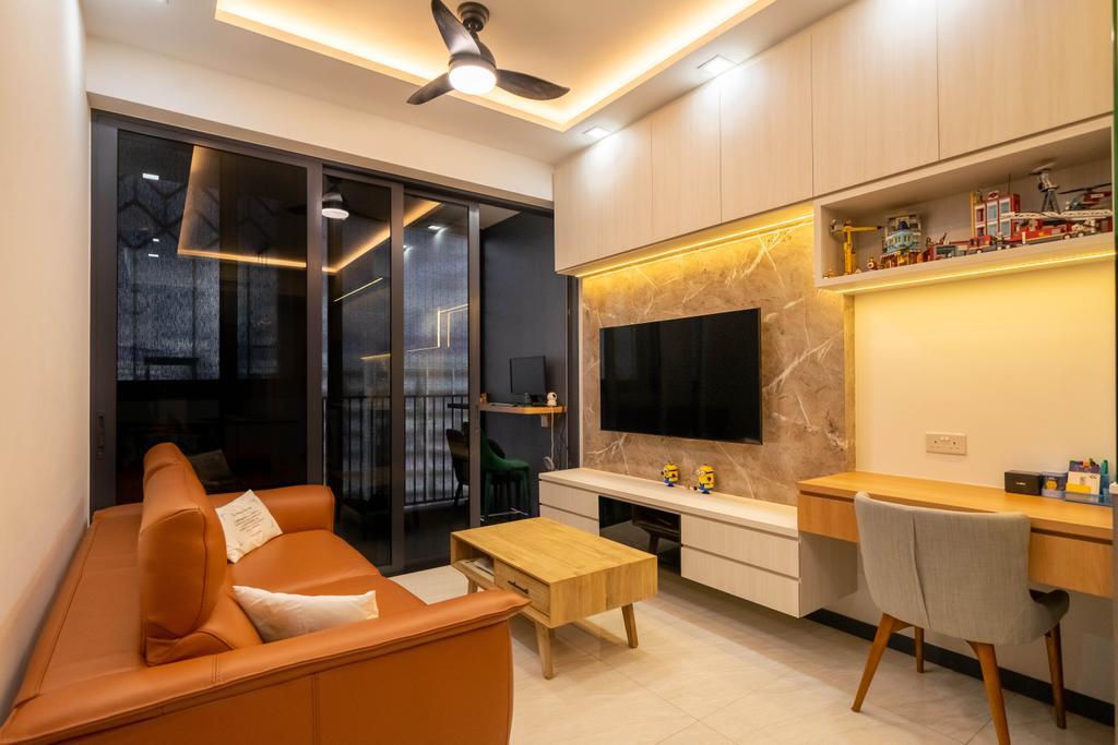 Contemporary, Condo, Living Room, Gem Residences, Interior Designer, Design 4 Space