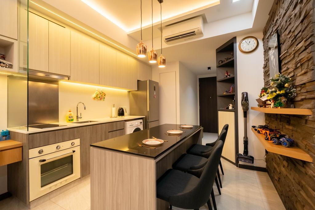Contemporary, Condo, Kitchen, Gem Residences, Interior Designer, Design 4 Space