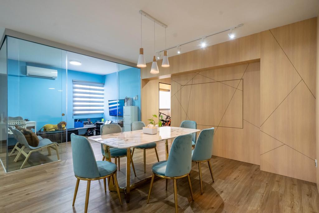 Contemporary, HDB, Dining Room, Anchorvale Link, Interior Designer, Design 4 Space, Scandinavian