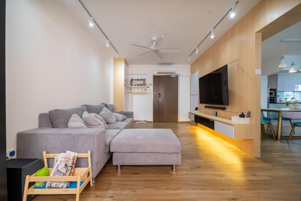 Contemporary, HDB, Living Room, Anchorvale Link, Interior Designer, Design 4 Space, Scandinavian