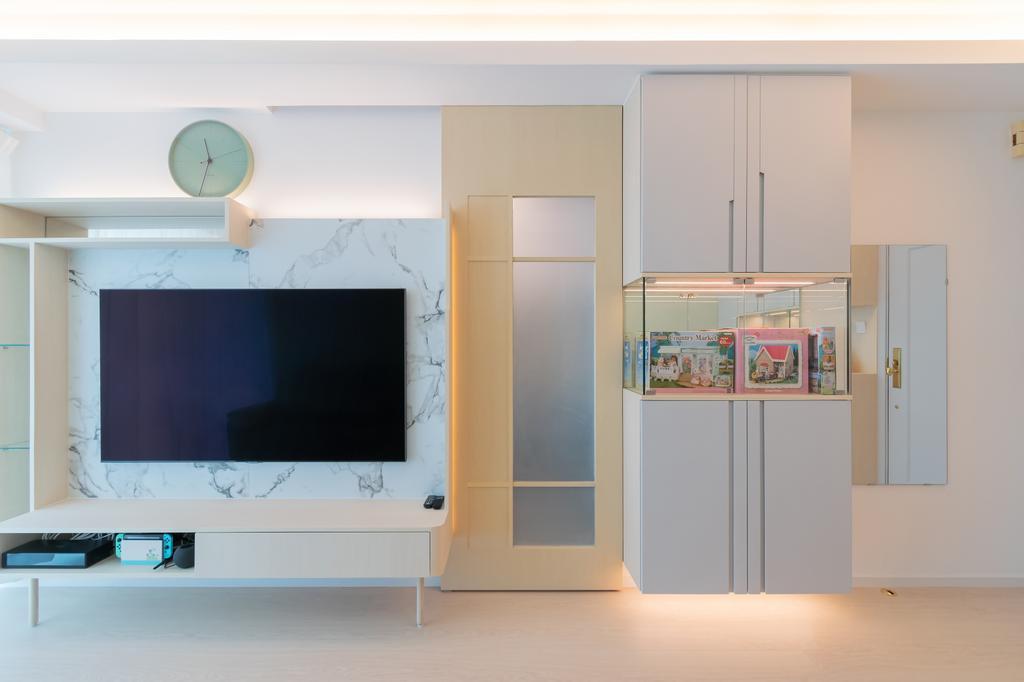 摩登, 私家樓, 客廳, 都會駅, 室內設計師, 現時設計, 簡約