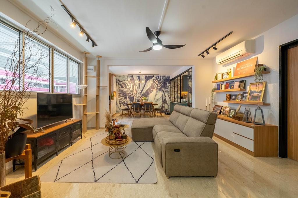 Contemporary, HDB, Living Room, Toh Yi Gardens, Interior Designer, Dots 'N' Tots