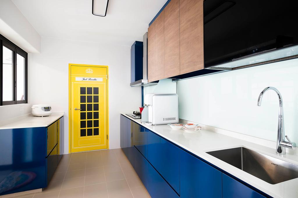 Contemporary, HDB, Kitchen, Bukit Batok Street 21, Interior Designer, Great Oasis Interior Design