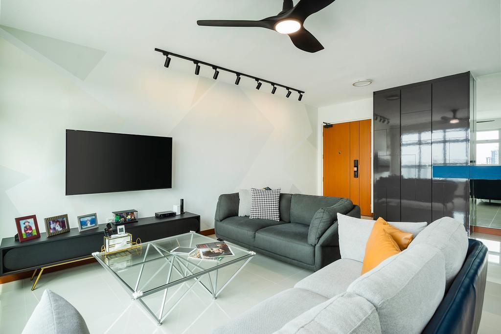 Contemporary, HDB, Living Room, Bukit Batok Street 21, Interior Designer, Great Oasis Interior Design