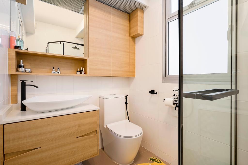 Contemporary, HDB, Bathroom, Bukit Batok Street 21, Interior Designer, Great Oasis Interior Design