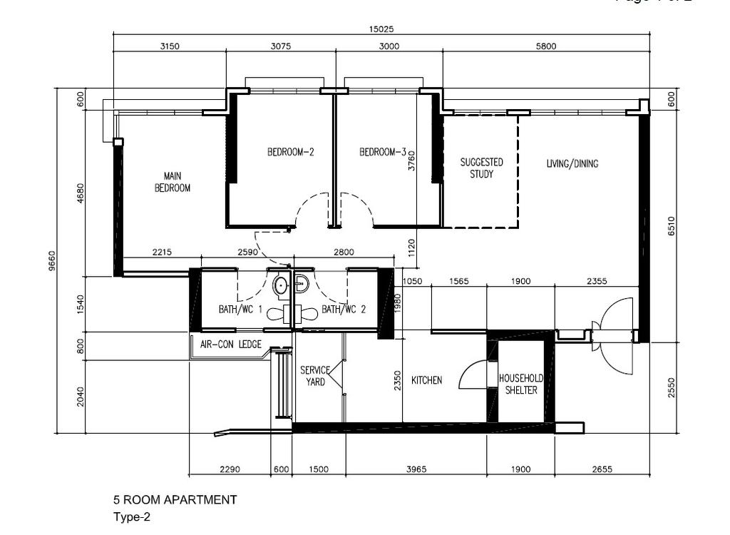 Contemporary, HDB, Bukit Batok Street 21, Interior Designer, Great Oasis Interior Design, 5 Room Hdb Floorplan, Before Floorplan
