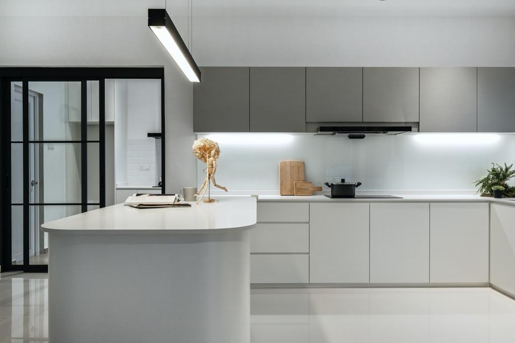 Modern, Landed, Kitchen, Taman Maluri, Kuala Lumpur, Interior Designer, RK Interior Studio, Minimalist