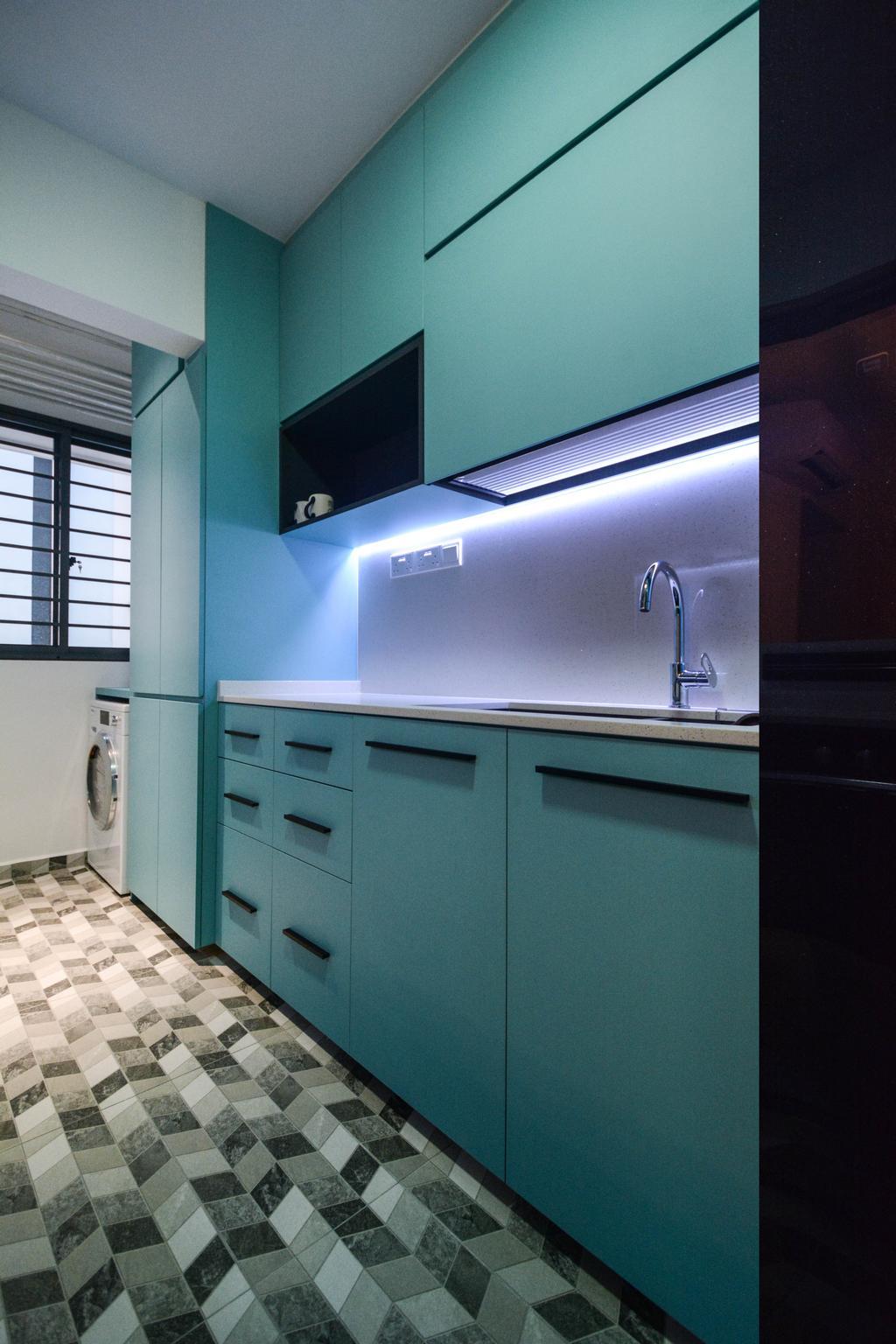Contemporary, HDB, Kitchen, Clementi Crescent, Interior Designer, The Roomakers