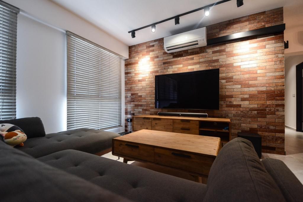 Contemporary, HDB, Living Room, Clementi Crescent, Interior Designer, The Roomakers