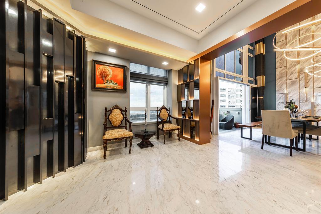 Contemporary, Condo, Living Room, The Makena, Interior Designer, U-Home Interior Design, Transitional