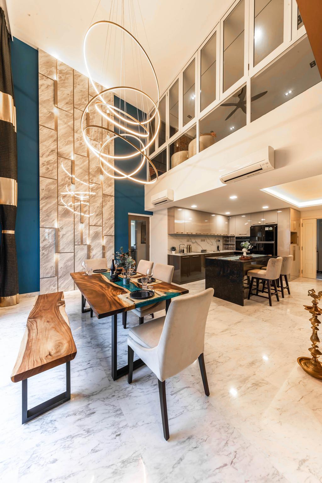 Contemporary, Condo, Dining Room, The Makena, Interior Designer, U-Home Interior Design, Transitional, Penthouse