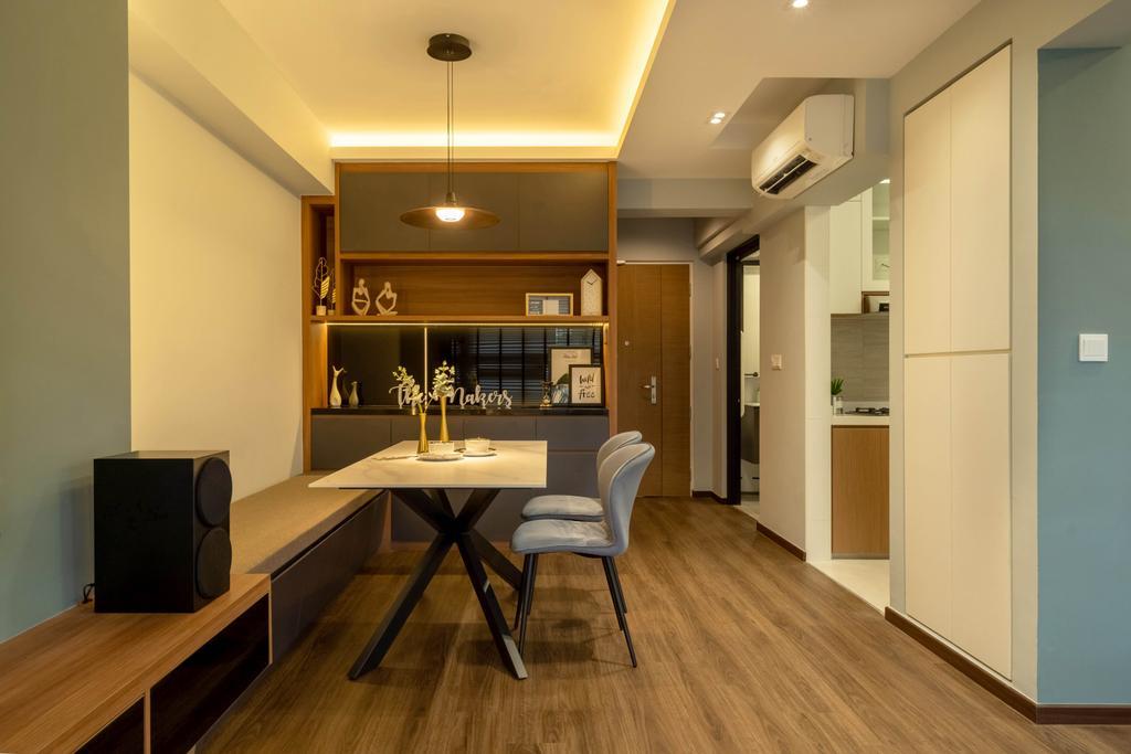 Contemporary, HDB, Dining Room, Bidadari Park Drive, Interior Designer, The Makers Design Studio, Scandinavian