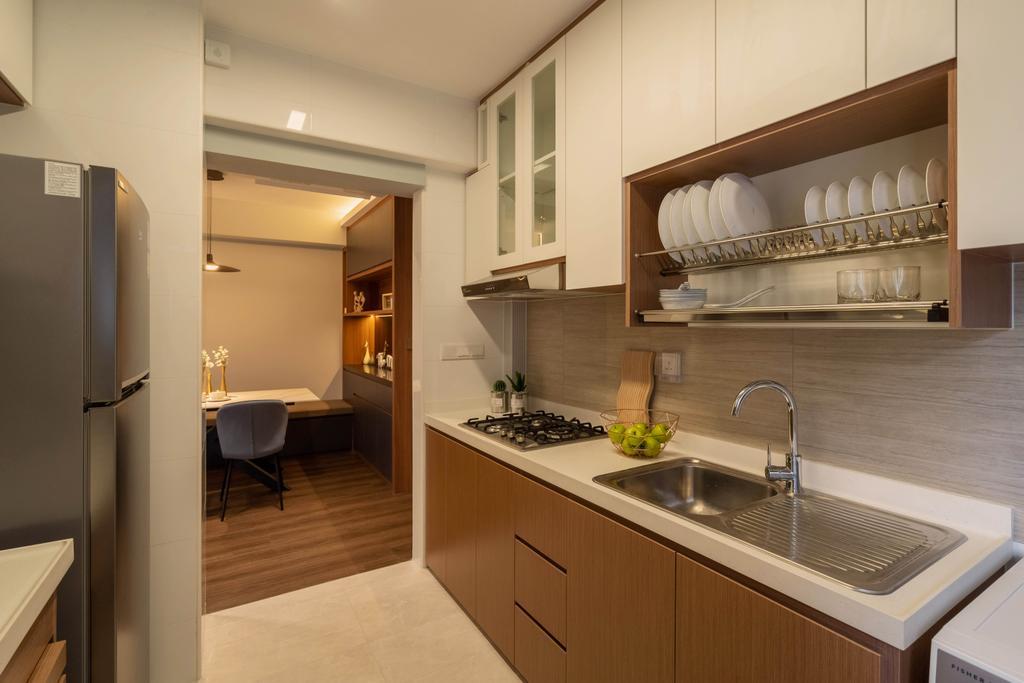 Contemporary, HDB, Kitchen, Bidadari Park Drive, Interior Designer, The Makers Design Studio, Scandinavian