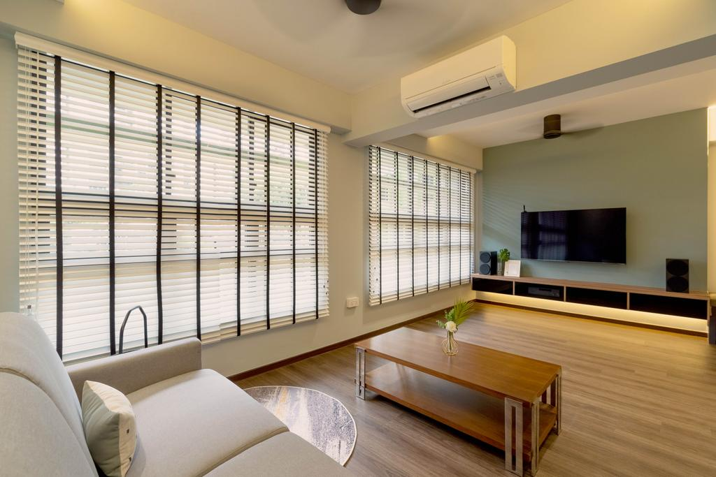 Contemporary, HDB, Living Room, Bidadari Park Drive, Interior Designer, The Makers Design Studio, Scandinavian