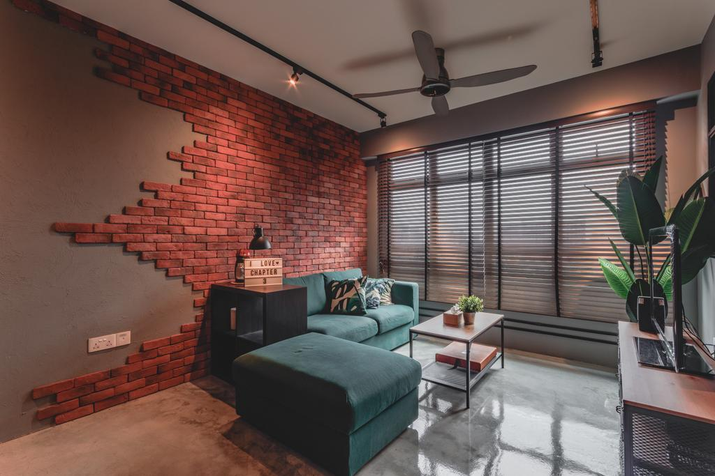 Contemporary, HDB, Living Room, Bukit Batok West Avenue 6, Interior Designer, Chapter 3, Industrial