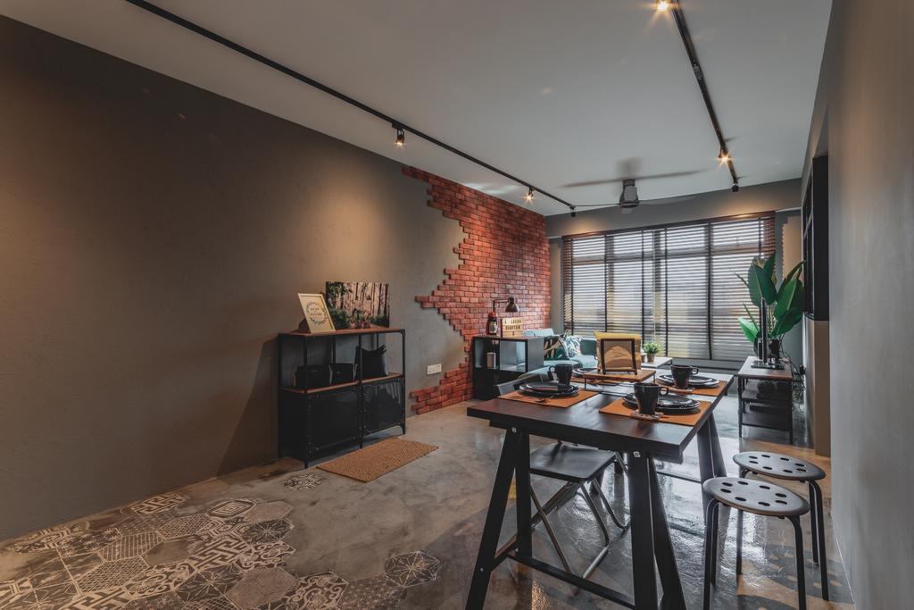 Contemporary, HDB, Dining Room, Bukit Batok West Avenue 6, Interior Designer, Chapter 3, Industrial