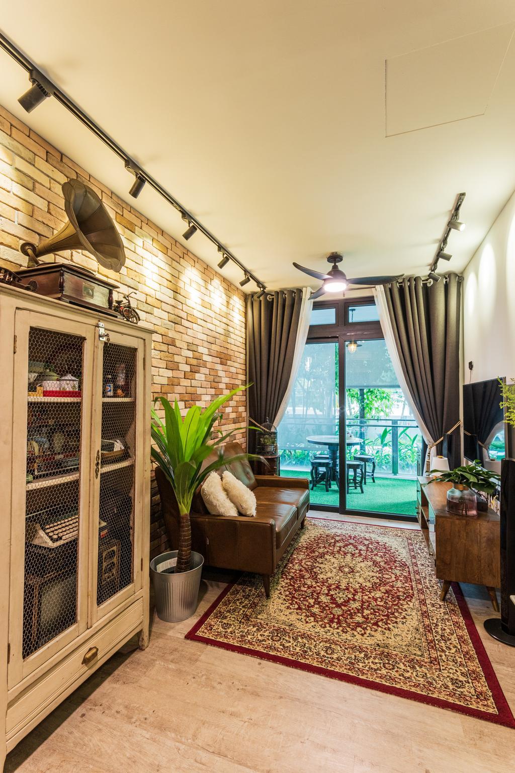 Vintage, Condo, Living Room, Parc Rosewood, Interior Designer, Chapter 3, Contemporary
