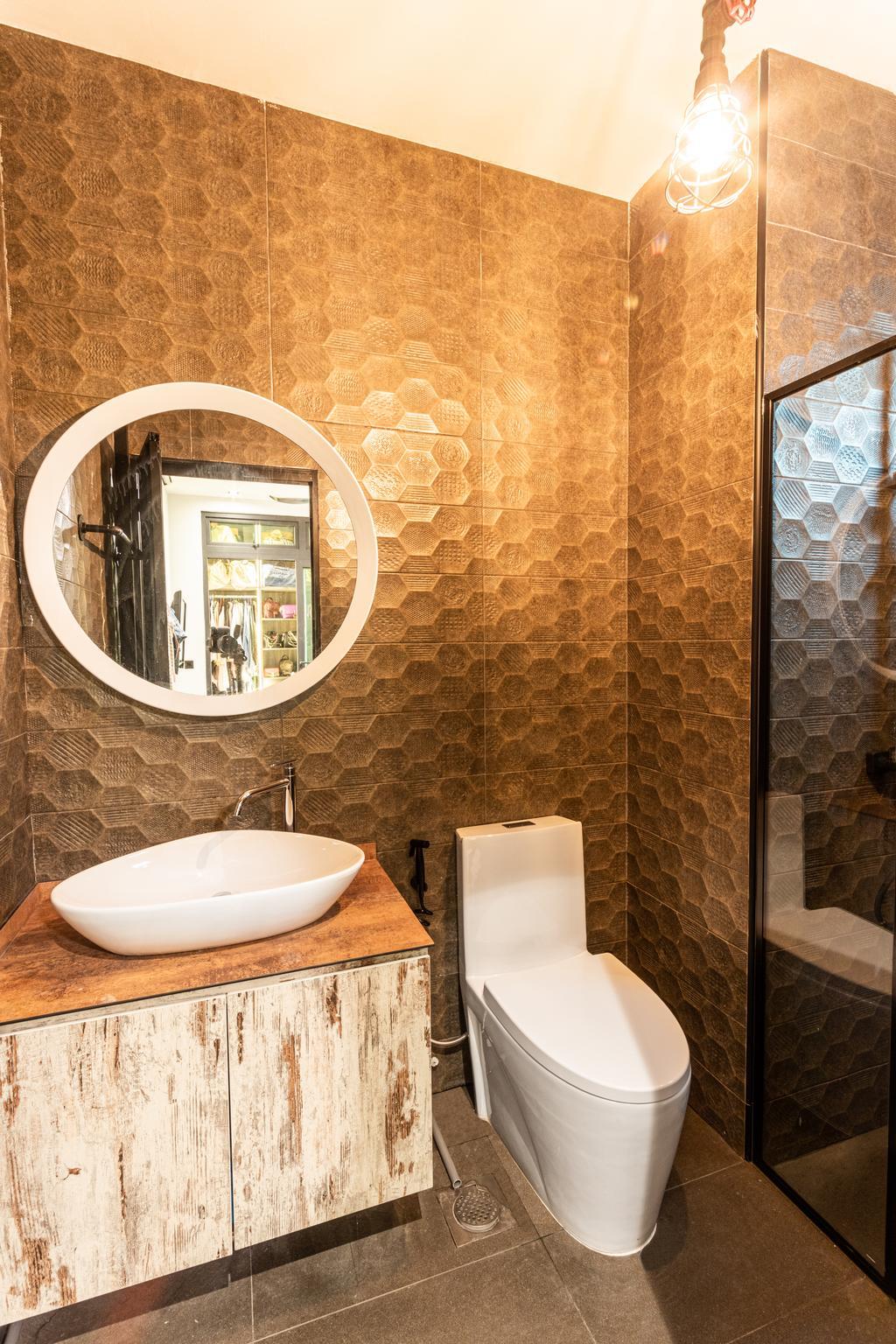 Vintage, Condo, Bathroom, Parc Rosewood, Interior Designer, Chapter 3, Contemporary